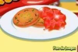 Cooking delicious cookies with tomato