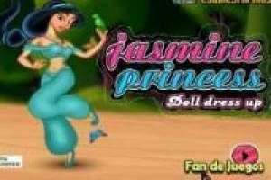 Dress up the princess Jasmine