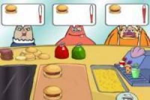 SpongeBob in the Krusty Krab kitchen
