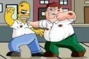 Juego Homer Simpson vs Peter Griffin Gratis