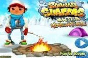 Subway surfer in the snow