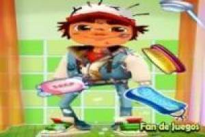 Bathing subway surfer