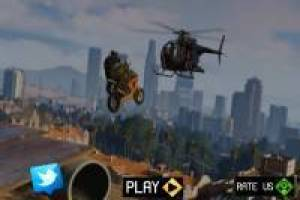 Parkour von Moto by the Sky im Stil GTA V.