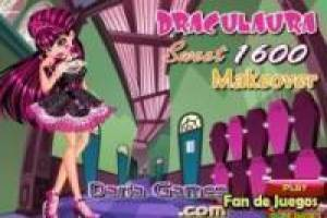 Draculaura: makeup and dress up monster high