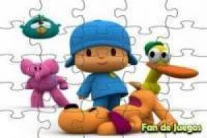 Free Pocoyo in puzzle Game