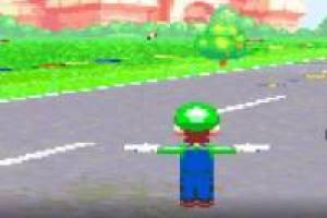 Mario Kart: Luigi is hard in T posed