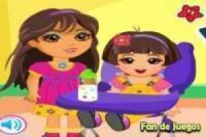 Free Dora the Explorer caring for her sister Game