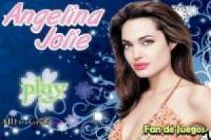 Dress up the famous Angelina Jolie