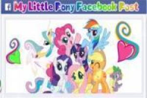 Juego My Little Pony Facebook Post Gratis