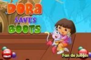 Dora the Explorer rescues boots