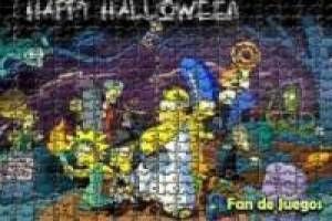 The simpsoms on Halloween: fandejuegos puzzles