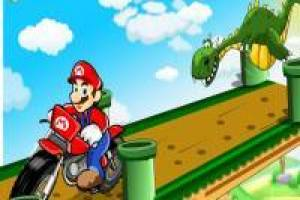 Mario Bros escapa del dragón