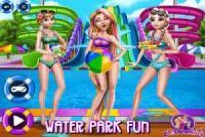 Rapunzel and her friends: Enjoy the water park