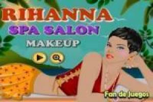 Rihanna in de spa