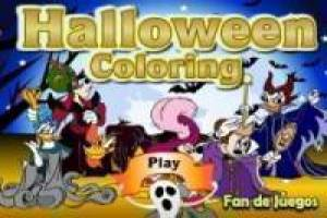 Colorare: Disney Halloween