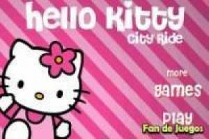 Бесплатно Hello Kitty мотоцикл Играть