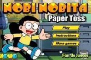 Nobita papers in the trash!