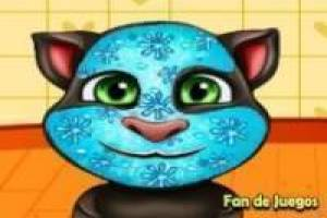 Make-up en kleding Talking Tom