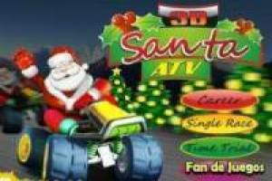 Free Santa claus 3d atv Game