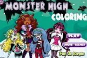 Juego Colorear a todas las monster high Gratis