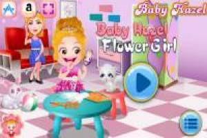 Baby Hazel is a pretty florist
