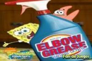 SpongeBob, clean grease