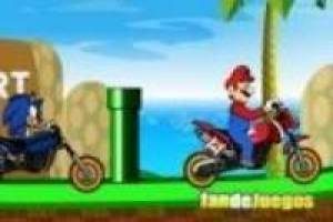 Mario vs sonic, motorcycles