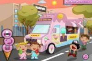Decorating ice cream truck