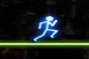 Neon Run: Running with the neon man