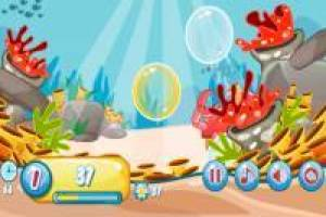Have fun blowing bubbles under the sea