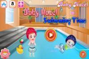 Baby Hazel: Learn to swim