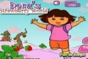 Dora the Explorer in the world of strawberry
