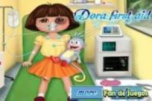Dora the explorer in the ambulance