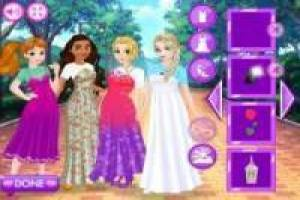 Princesses Disney en flanelle et robes