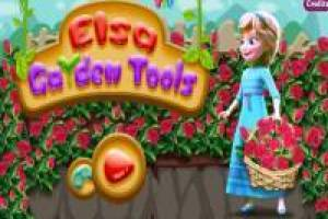 Elsa and the tools of the garden