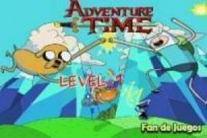 Free Adventure Time: running through the roof Game