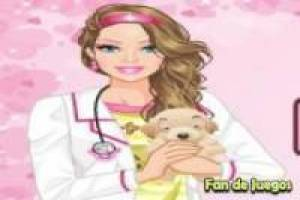 Vestir a Barbie veterinaria