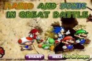 Mario and sonic at the great battle