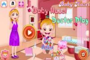 Baby Hazel has fun playing doctor