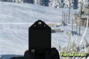 Aim and shoot in the snow