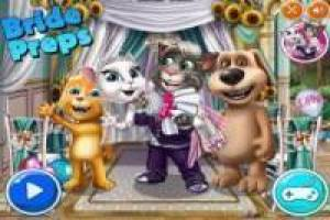 The wedding of Talking Tom and Angela