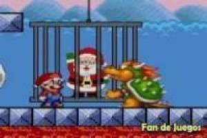 Super Mario saves Santa Claus