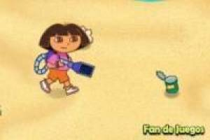 Dora The Explorer čistou pláž
