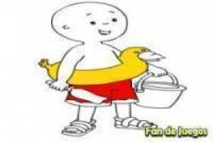 Caillou maling for stranden