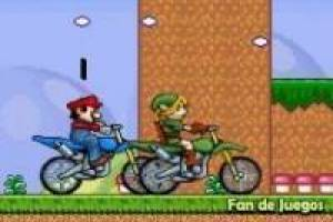 Zelda vs Mario: Carrera de motos