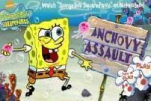 SpongeBob launches mechanical anchovy
