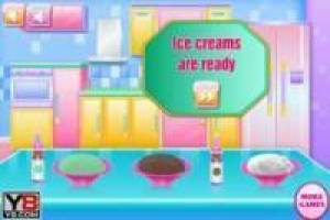 Preparing a delicious ice cream at home