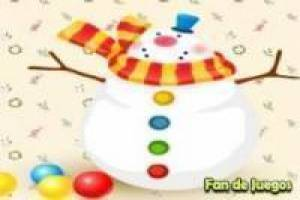 Decorate Christmas tree and snowman