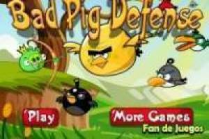 Juego Angry birds: bad pig defense Gratis