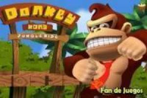 Donkey kong, walks through the jungle